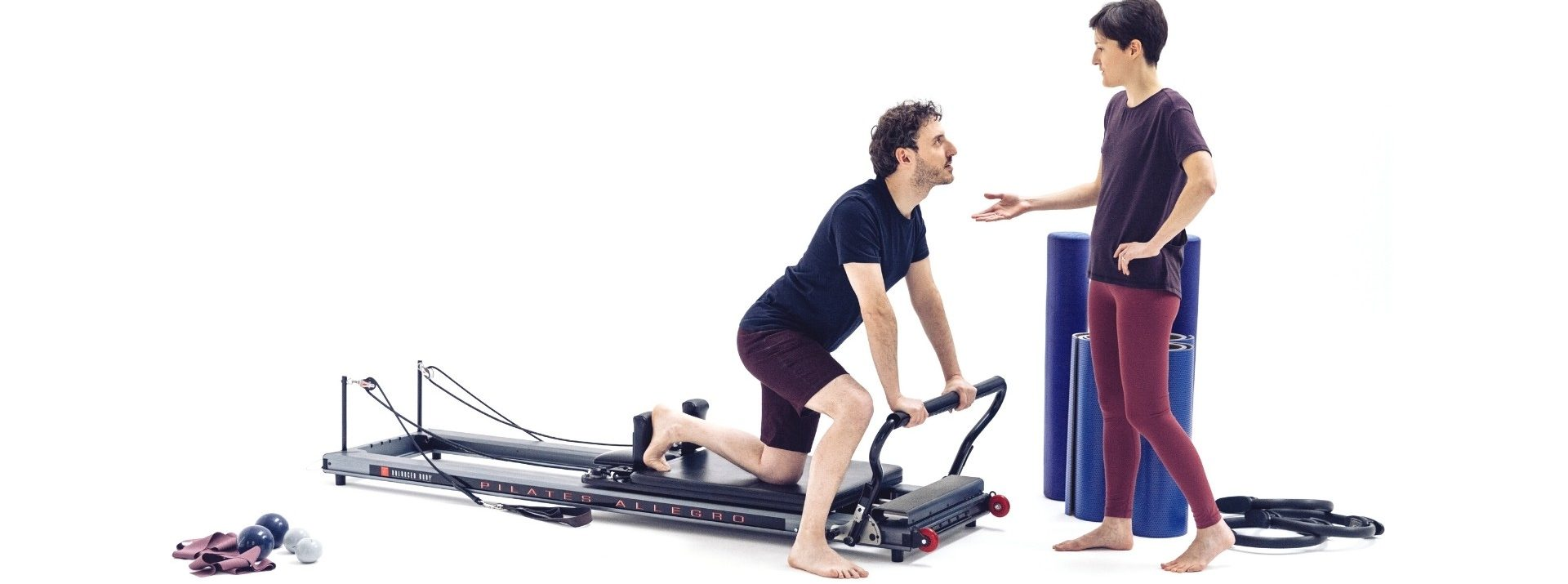 Laura Reformer Pilates With Patient Photo